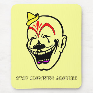 Vintage Circus Clown Mouse Pad