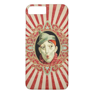 Vintage Circus Clown with Red Distressed Stripes iPhone 8 Plus/7 Plus Case
