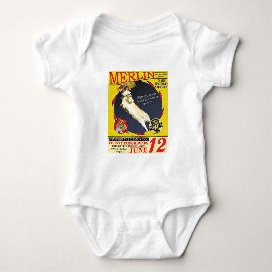 Vintage Circus Corgi Baby Bodysuit