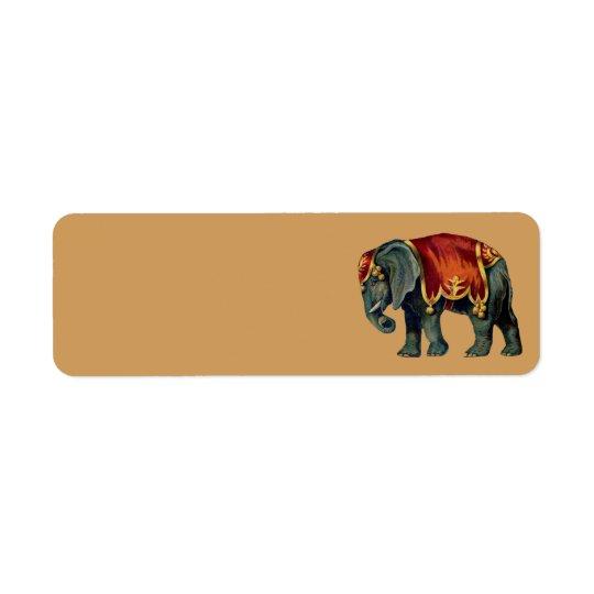 vintage circus elephant address labels