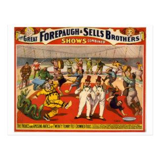 Vintage Circus Forepaugh & Sells Postcard