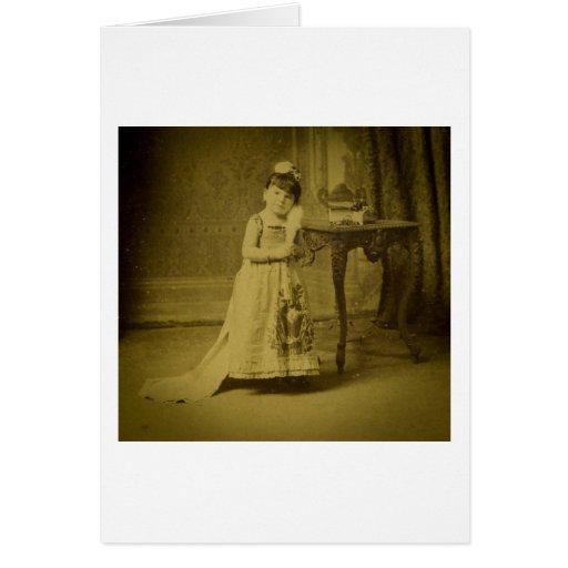 Vintage Circus Freak Midget Woman Cards