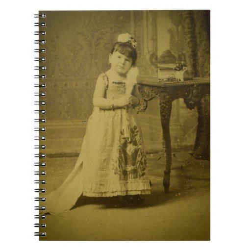 Vintage Circus Freak Midget Woman Spiral Notebook