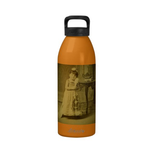 Vintage Circus Freak Midget Woman Water Bottle