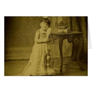 Vintage Circus Freak Woman Greeting Card