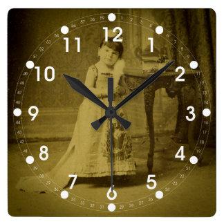 Vintage Circus Freak Woman Clocks