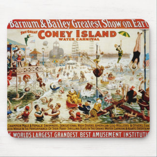 Vintage Circus Greatest Show On Earth Mousepads