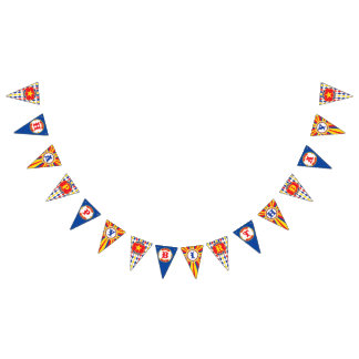Vintage Circus Happy Birthday banner, carnival Bunting Flags