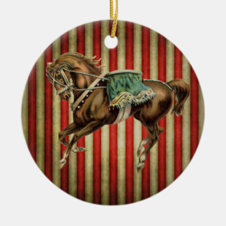 vintage circus horse ceramic ornament