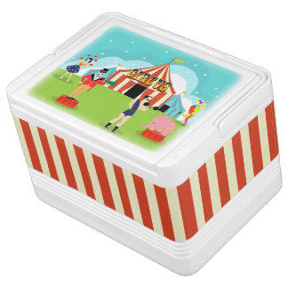 Vintage Circus Igloo Can Cooler