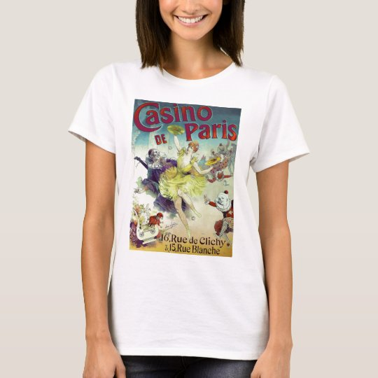 Vintage circus illustration French cabaret Paris T-Shirt