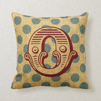 Vintage Circus Letter O Throw Pillow
