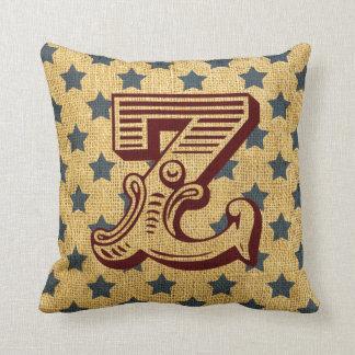 Vintage Circus Letter Z Throw Pillow