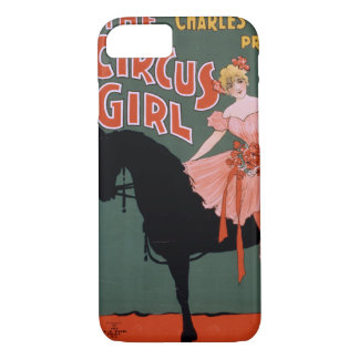 Vintage Circus of Female Acrobat on a Horse iPhone 8/7 Case