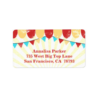 Vintage Circus personalized address label