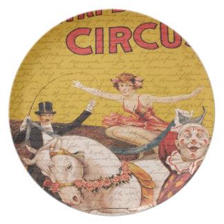 Vintage Circus Plates