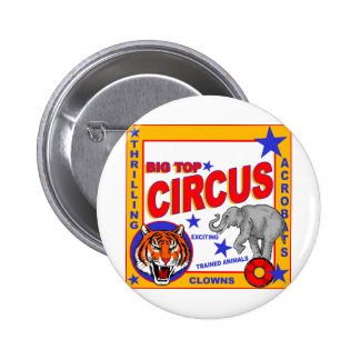 Vintage Circus Poster 2 Inch Round Button