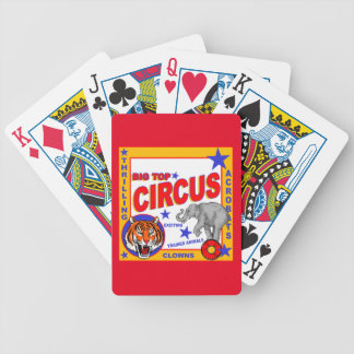 Vintage Circus Poster Bicycle Playing Cards