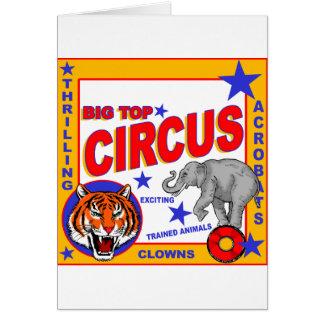 Vintage Circus Poster Card