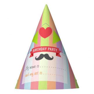 Vintage Circus Poster Children's Birthday Party Hat