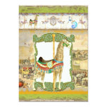 Vintage Circus Poster, Giraffe Birthday Party