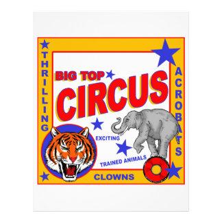 Vintage Circus Poster Letterhead