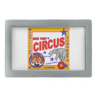 Vintage Circus Poster Rectangular Belt Buckles