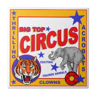 Vintage Circus Poster Tile