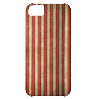 Vintage circus red grunge stripes stripe pattern case for iPhone 5C