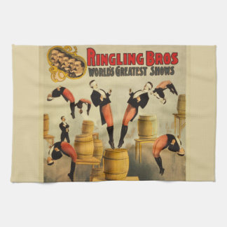 Vintage Circus Sideshow Poster Kitchen Towel