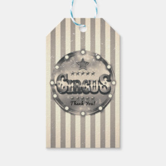 Vintage Circus Striped Stripes Custom Party Favor Gift Tags