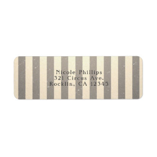 Vintage Circus Striped Stripes Party Invitation