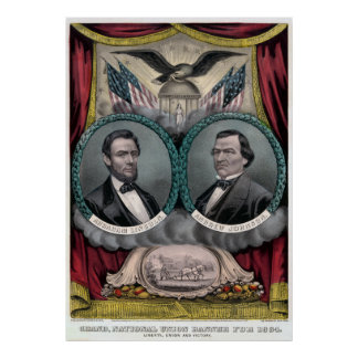 Vintage Civil War Republican Presidential Election Poster