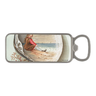 Vintage Clam Shell Scene Magnetic Bottle Opener