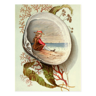 Vintage-Clam-Shell-Scene Postcard