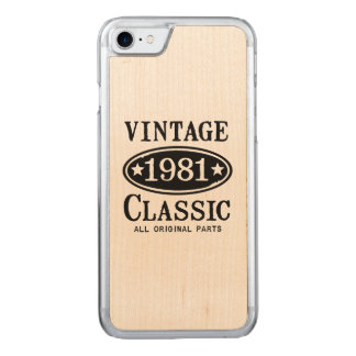 Vintage Classic 1981 Carved iPhone 7 Case