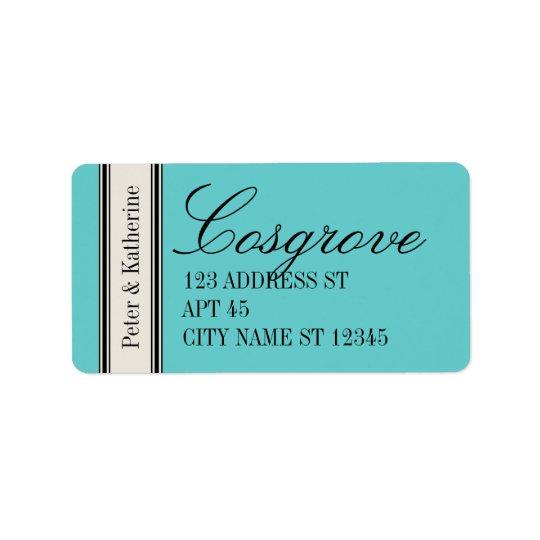 Vintage Classic Address Label, Blue