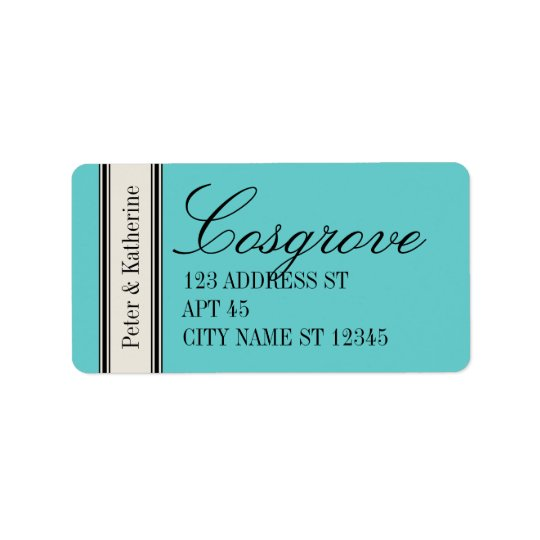 Vintage Classic Address Label, Blue Label