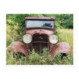 Vintage Classic Car Rust Bucket Photograph Postcard