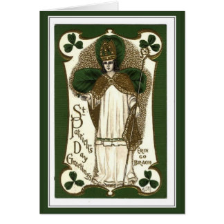 Vintage classic embossed St Patrick's Day Note Card