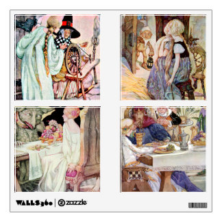 Vintage Classic Fairy Tale Illustrations Wall Decal