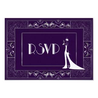 Vintage Classic Gatsby Style RSVP Manuela 25003a Card