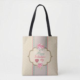 Vintage Classic Happy Valentine's Day Tote Bag