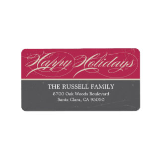 Vintage Classic Holiday Address Labels