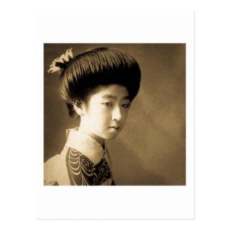 Vintage Classic Japanese Beauty Geisha 芸者 Japan Postcard