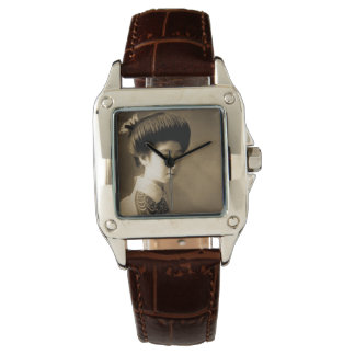 Vintage Classic Japanese Beauty Geisha 芸者 Japan Wristwatch