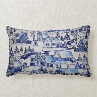Vintage Classic Merry Christmas Xmas Holiday Lumbar Pillow
