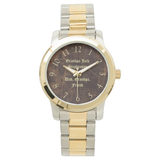 Vintage Classic Personalized Keepsake Men's Watch