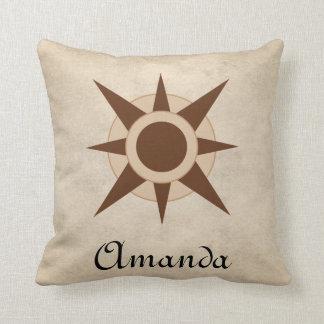 Vintage Classic Pirate Compass  Nursery Decor Throw Pillow