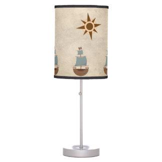 Vintage Classic Pirate Ship Nursery Decor Table Lamp